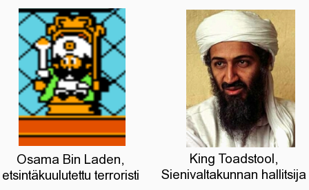 King Toadstool ja Osama Bin Laden